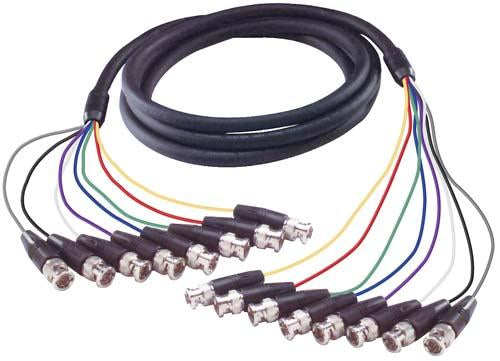 Cable premium-multi-coaxial-cable-8-bnc-male-male-75-ft
