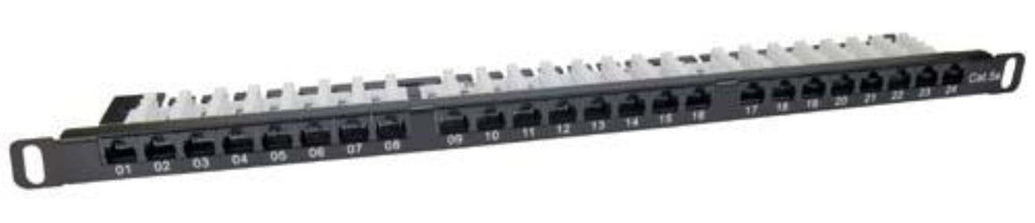 Category 5E UTP Patch Panel, 24-Port EIA568A/B