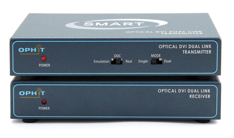 DQSL-M DVI Dual Link Real/Self EDID 2 Channel Fibre Optic Extender
