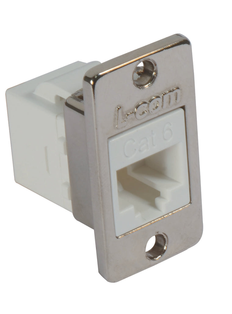 Cat6 RJ45 Mini Coupler Unshielded RJ45 (8x8) Panel Mount Style