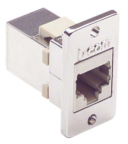 ECF504-SC3  Cat3 RJ45 Coupler Shielded (8x8) Panel Mount Style