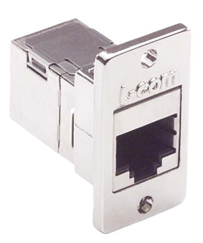 ECF504-SC5E  Cat5e RJ45 Coupler Shielded (8x8) Panel Mount Style