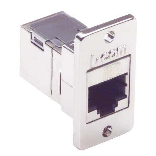 Cat6a RJ45 Coupler Shielded (8x8) Panel Mount Style