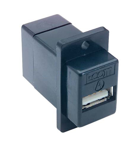 ECF504B-UAB  Coupler Panel Mount USB A/B Black