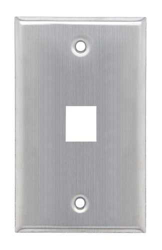 Stainless Wall Plate for 1 Keystone Jack