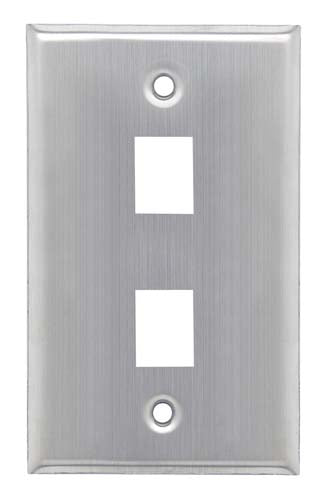 Stainless Wall Plate for 2 Keystone Jacks