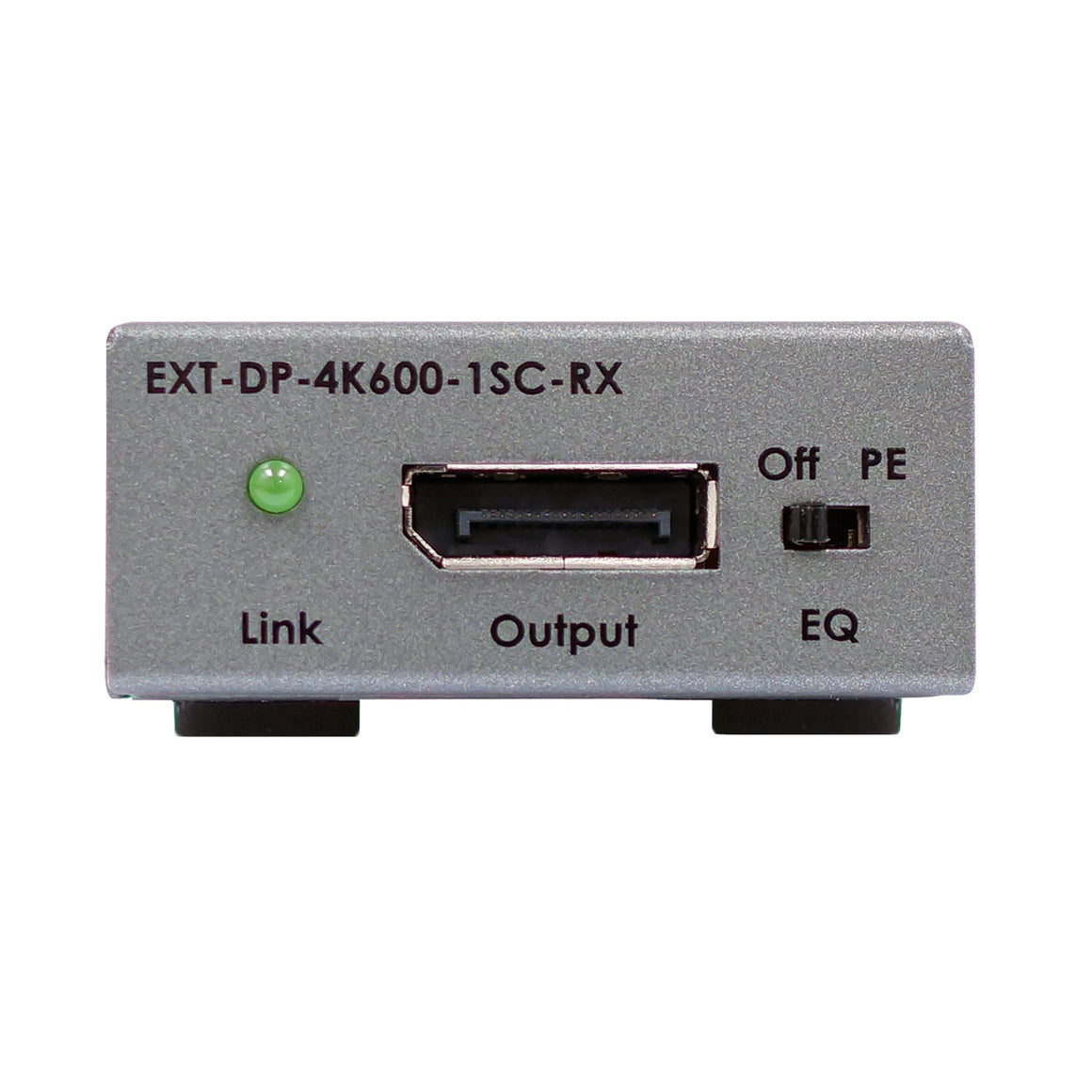 "4K 600 MHz DisplayPort""¢ Extender over one SC-terminated fiber optic cable"