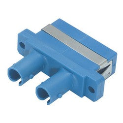 FOA-006 Duplex Fiber Adapter, SC / ST (Plastic Body) Ceramic Alignment Sleeve