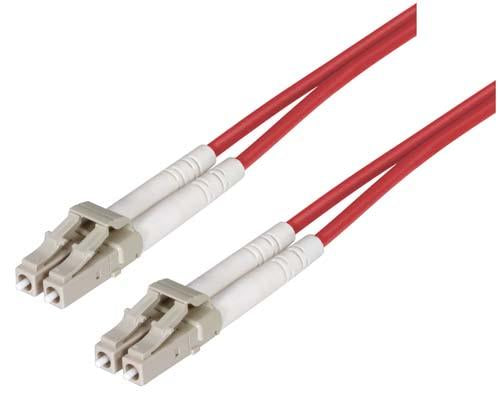 Cable om2-50-125-multimode-fiber-cable-dual-lc-dual-lc-red-150m