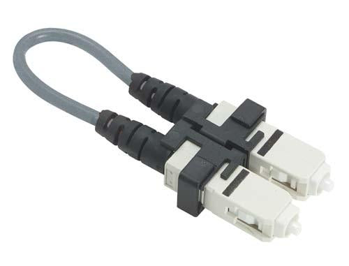 Cable fiber-loopback-with-sc-connectors-625-125