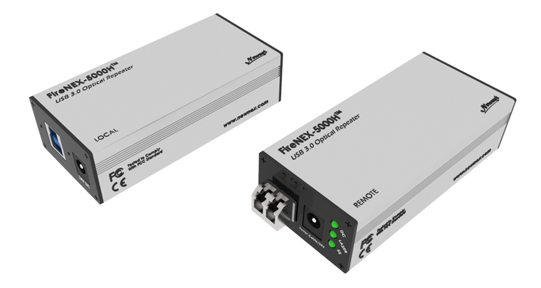 FireNEX-5000H™ USB 3.0 Optical Repeater with Power Delivery Option