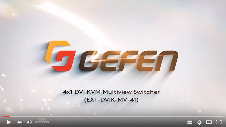 Gefen's DVI KVM Multiview Switcher Cascade 32 Units - Gefen Video