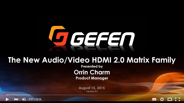 HDMI 2.0 4K Matrix Switchers supporting HDCP 2.2 - Gefen Video