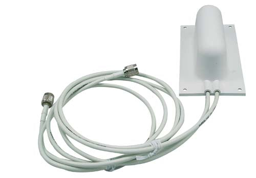 HG2405SD-135-RSP  2.4 GHz 5 dBi Patch Spatial Diversity Wide Angle Antenna 4-ft RP SMA Plug