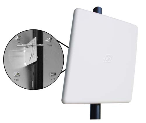 2.4/4.9-5.8 GHz Four Element, Dual Polarized MIMO Panel Antenna - N-Female Connectors