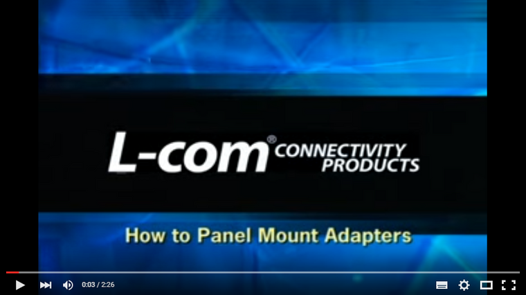 How to Panel Mount Adapters - L-Com Video