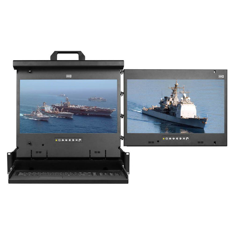 Cyberview 2U Multi-display Console Drawer 2 x 17in 4K 3840x2160 R