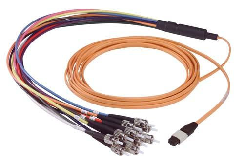 Cable mpo-male-st-12-fiber-ribbon-fanout-625-multimode-with-ofnr-jacket-50m