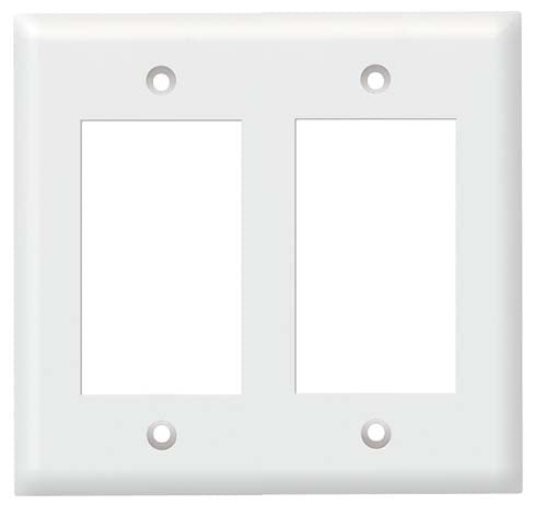Decora Style Double Gang Wall Plate White
