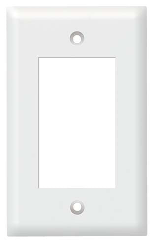Decora Style Single Gang Wall Plate White