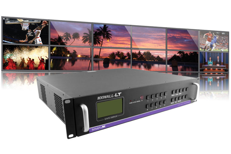4-Input 12-Output Video Wall Processor and Matrix Switch