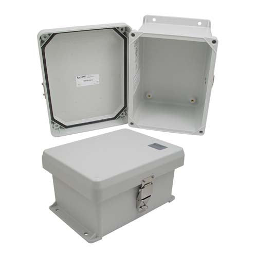 8x6x4 Inch UL Listed Weatherproof Industrial NEMA 4X Enclosure Only