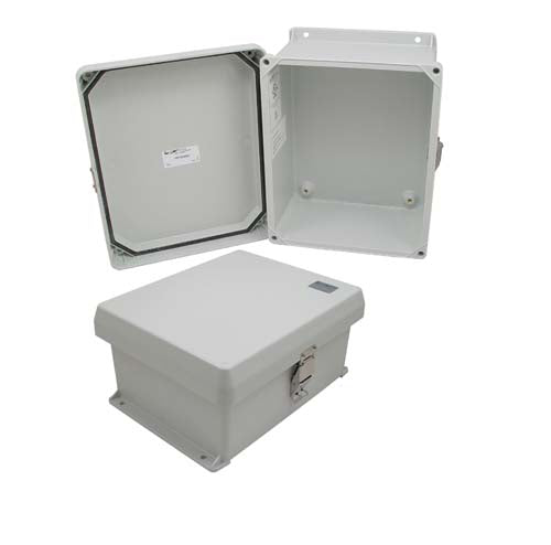 10x8x5 Inch UL Listed Weatherproof Industrial NEMA 4X Enclosure Only