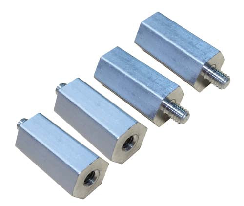 1 Inch High Hex Aluminum Standoff - 4-Pack