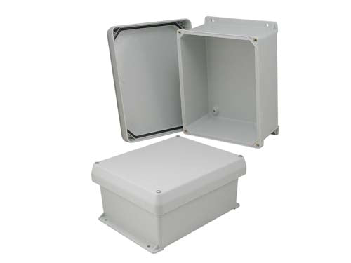 10x8x5 Inch UL Listed Weatherproof Industrial NEMA 4X Enclosure Only with Corner Screws