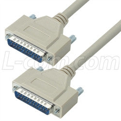 Cable reversible-hardware-molded-d-sub-cable-db25-male-male-250-ft