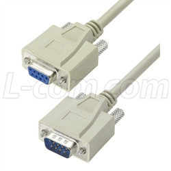 Cable reversible-hardware-molded-d-sub-cable-db9-male-female-150-ft