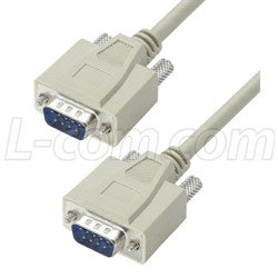 Cable reversible-hardware-molded-d-sub-cable-db9-male-male-50-ft