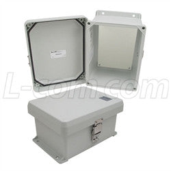 8x6x4-inch-ul-listed-weatherproof-nema-4x-enclosure-with-blank-non-metallic-mounting-plate L-Com Enclosure