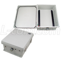 12x10x5-inch-weatherproof-nema-4x-rated-enclosure-with-din-mounting-rails L-Com Enclosure
