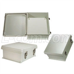 12x10x5-inch-weatherproof-nema-4x-enclosure-with-blank-non-metallic-mounting-plate L-Com Enclosure