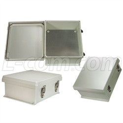 12x10x5-inch-weatherproof-nema-4x-enclosure-with-blank-aluminum-mounting-plate L-Com Enclosure
