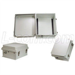 14x12x7-inch-weatherproof-nema-4x-enclosure-din-mounting-rails L-Com Enclosure
