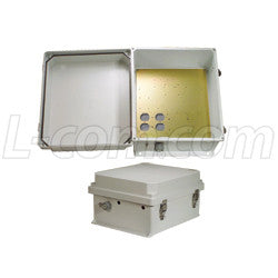 14x12x7-inch-ul-listed-weatherproof-enclosure-w-drilled-aluminum-mounting-plate L-Com Enclosure