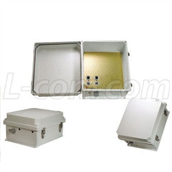 14x12x7-inch-weatherproof-enclosure-with-802-3af-compatible-poe-interface-w-cat-5-surge-protection L-Com Enclosure