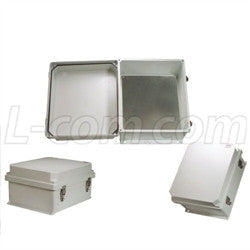 14x12x7-inch-weatherproof-nema-4x-enclosure-with-blank-aluminum-mounting-plate L-Com Enclosure