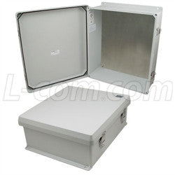 16x14x6-inch-ul-listed-weatherproof-nema-4x-enclosure-with-blank-aluminum-mounting-plate L-Com Enclosure