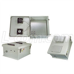18x16x8-inch-240-vac-weatherproof-enclosure-with-cooling-fans-and-heaters L-Com Enclosure