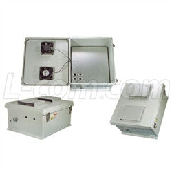 18x16x8-inch-weatherproof-enclosure-with-802-3af-poe-interface-and-dual-cooling-fans L-Com Enclosure
