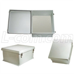 18x16x8-inch-weatherproof-nema-4x-enclosure-with-blank-non-metallic-mounting-plate L-Com Enclosure