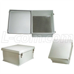 18x16x8-inch-weatherproof-nema-4x-enclosure-with-blank-aluminum-mounting-plate L-Com Enclosure