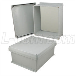 14x12x6-inch-ul-listed-weatherproof-nema-4x-enclosure-w-non-metallic-mounting-plate-corner-screws L-Com Enclosure