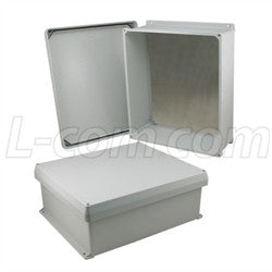 16x14x6-inch-ul-listed-weatherproof-nema-4x-enclosure-w-aluminum-mounting-plate-corner-screws L-Com Enclosure