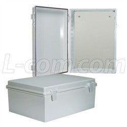 14x10x6-inch-weatherproof-abs-light-weight-enclosure-with-blank-starboard-mounting-plate L-Com Enclosure