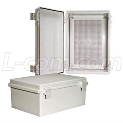 14x10x6-inch-weatherproof-abs-light-weight-enclosure-with-universal-mounting-plate L-Com Enclosure