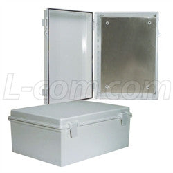 14x10x6-inch-weatherproof-abs-light-weight-enclosure-with-blank-aluminum-mounting-plate L-Com Enclosure